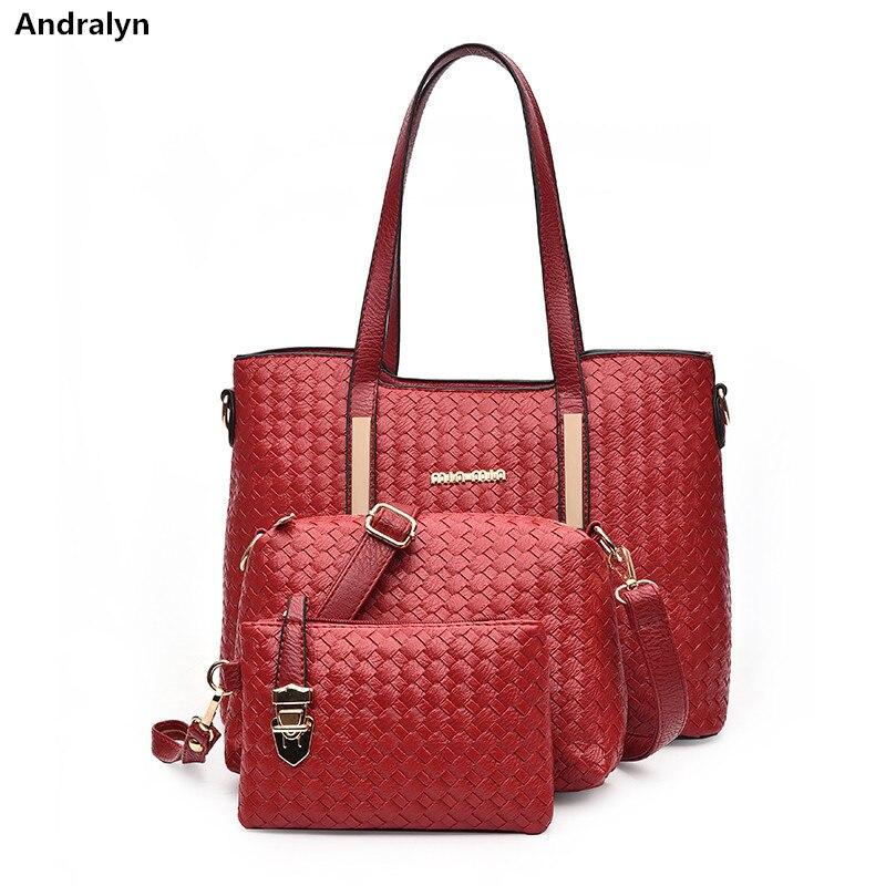 luxury handbags women bags designer 3 pcs handbags genuine leather shoulder bag weave large shopping bag brand handmade totes