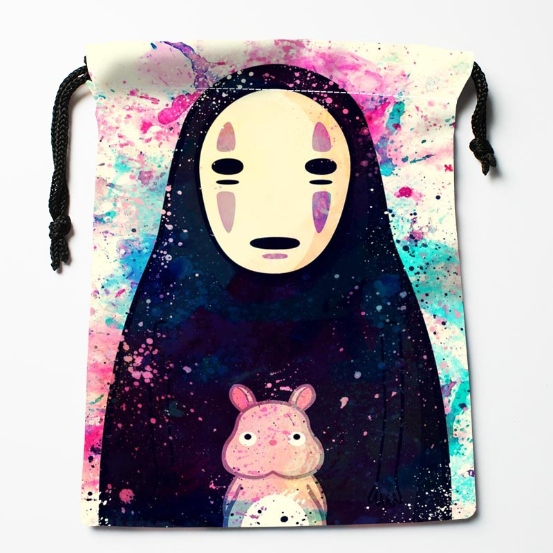 New Custom Spirited Away Drawstring Bags Custom Storage Bags Storage Printed Gift Bags More Size 27x35cm Compression Type Bags