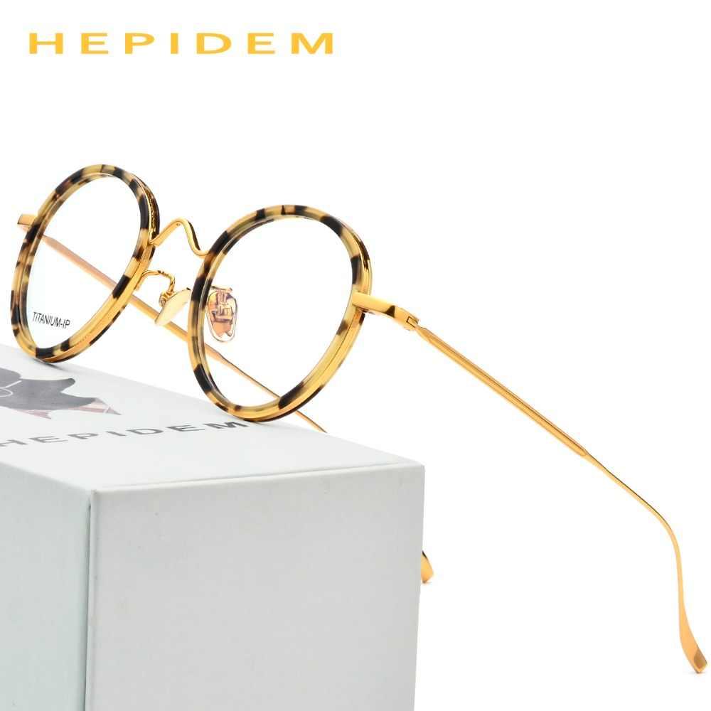 2149b321ba Pure Titanium Glasses Frame Men Ultralight Women Round Vintage Prescription  Eyeglasses 2018 Korean Italy Optical Frames