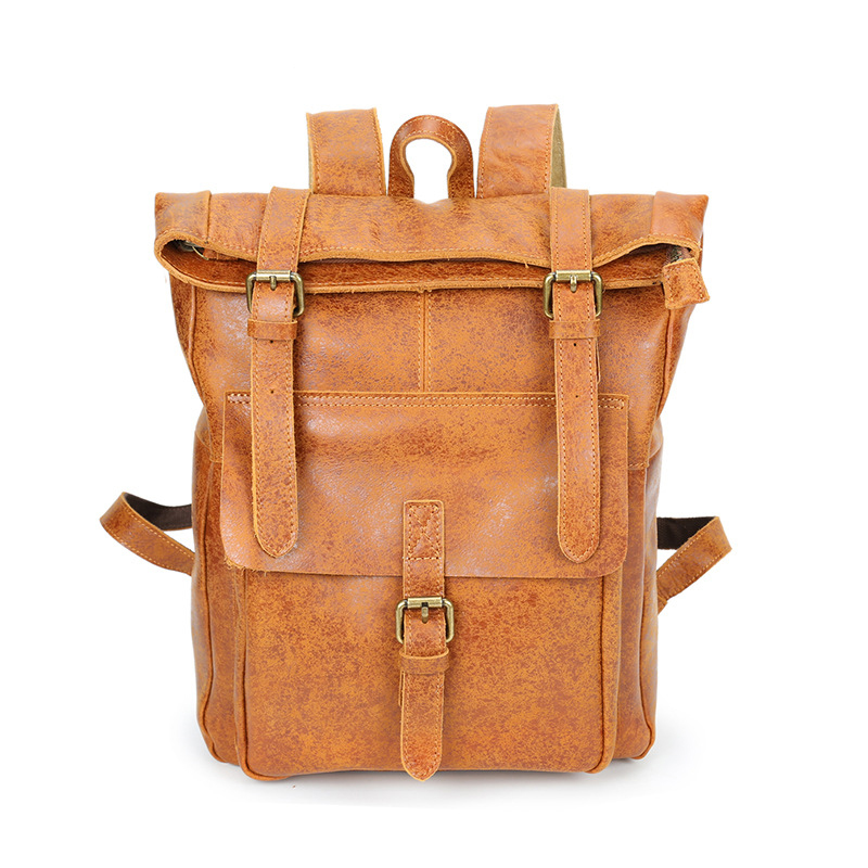 Fashion Genuine Leather Women Backpack Men Bags Brand Cow Leather Backpack for Women Men Large Capacity Functional Shoulder Bag