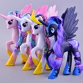14cm Children Gift Anime model Lovely Rainbow Horse Princess Luna PVC Unicorn Poni Toys For Girls Collection Model Toy Speelgoed