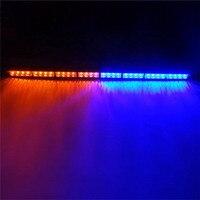 36 32 LED Emergency Advisor Strobe Beacon Safety Warning Light Bar Red Blue 32LED Lamp