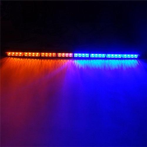 CYAN SOIL BAY 36 32 LED Emergency Advisor Strobe Beacon Safety Warning Light Bar Red Blue 32LED Lamp