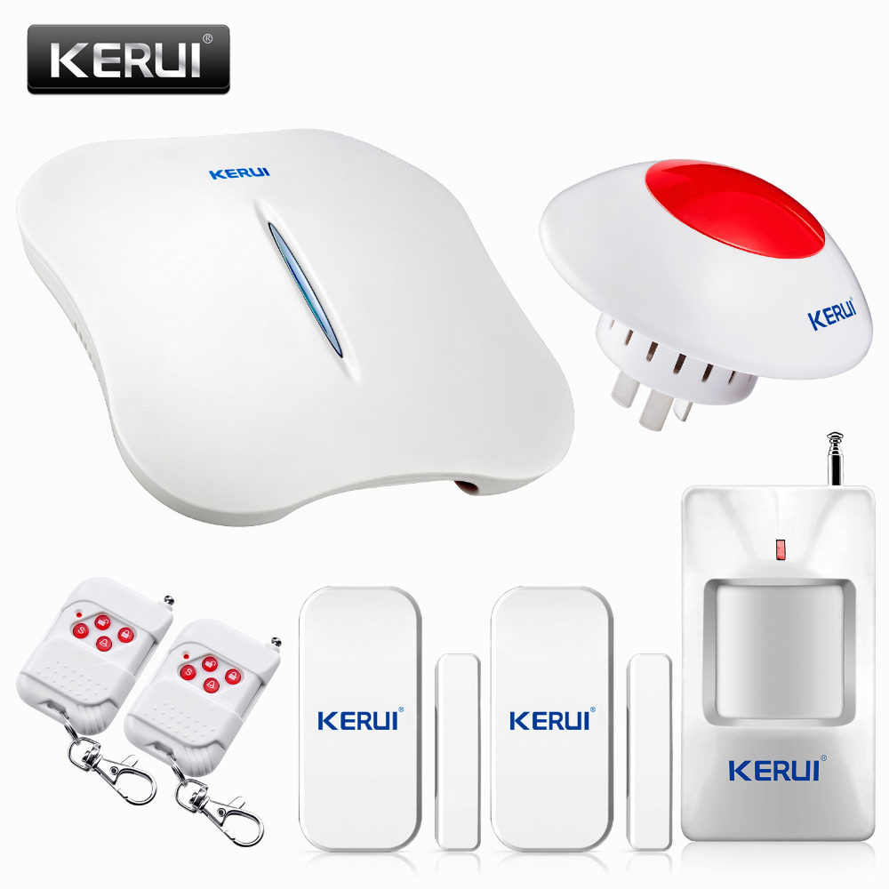 цена на KERUI W1 Android IOS APP  Control Voice Prompt PSTN/GSM Intelligent home security alarm system