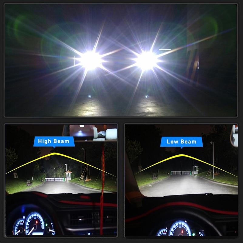 2x h7 h11 h4 9003 9004 9005 9006 9012 car led headlights bulb