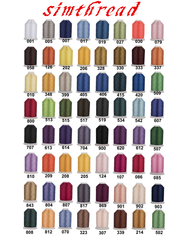 60 Brother Colors Series Trilobal poliéster máquina bordado hilo filamento Ideal para la mayoría de la máquina 1000 m * 60 colores surtidos-in Hilo from Hogar y Mascotas    1