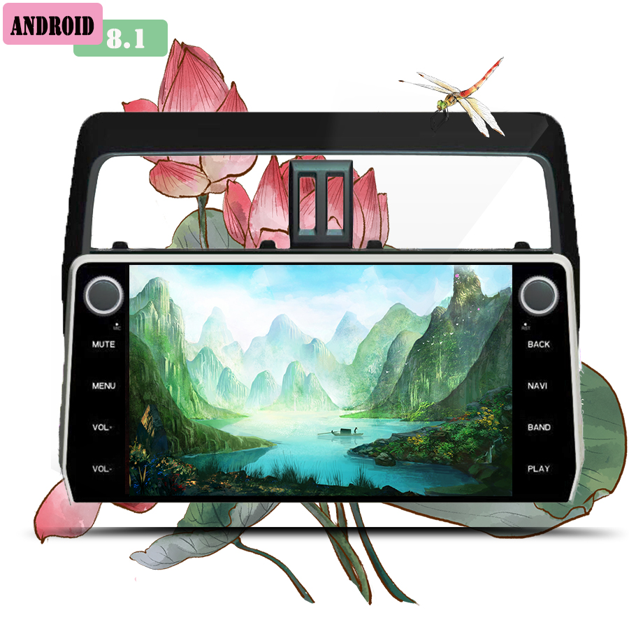 <font><b>Android</b></font> 10.0 Car Multimedia Radio Player For Toyota Prado 2018 2019 Stereo GPS Navigation Automagnitol <font><b>2Din</b></font> Video Audio NO DVD image
