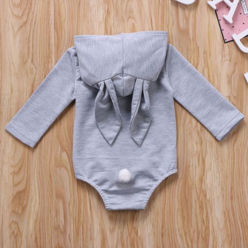8f3cd41ff63 0 6M Bunny Ear Clothing Newborn Toddler Baby Girl Boys Hooded Romper Warm  Cotton Outfits Jumpsuit-in Rompers from Mother   Kids on Aliexpress.com