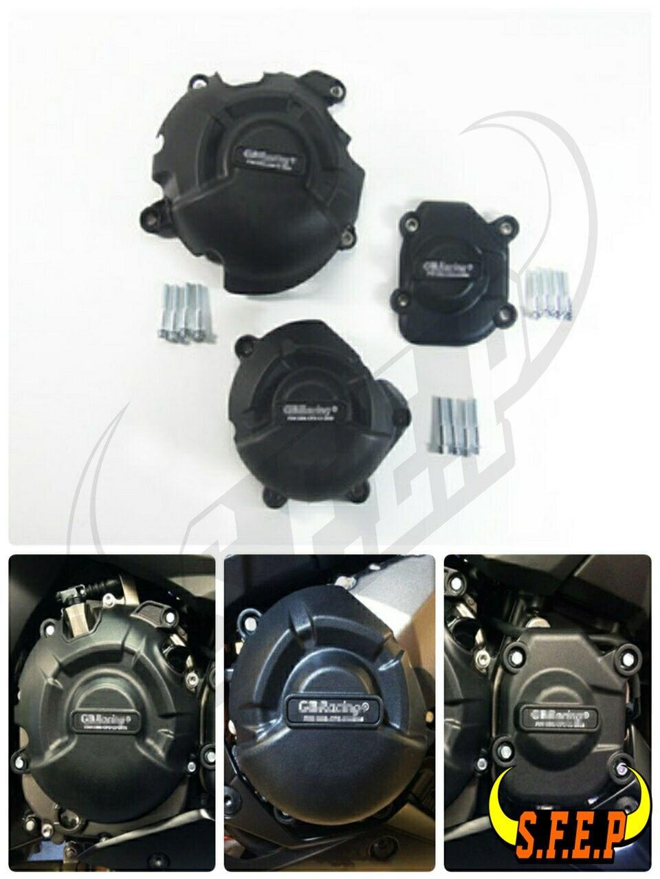 Motorcycle Engine Case Guard Protector Cover GB Racing For Kawasaki Z800 2013 2014 2015 2016 Black