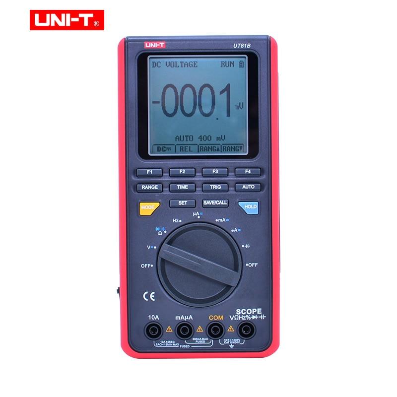 UNI-T UT81B/C handheld digital oscilloscope multimeters 8MHz/16MHz 4000 Counts Scope Digital Multimeters USB Interface PC Soft