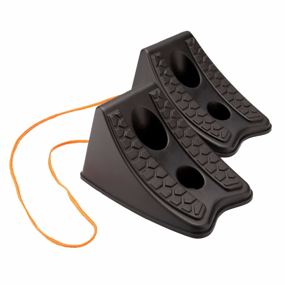 Pair of Wheel Chocks Black in Colour by For SUV 4X4 ATV for Jeep Caravan Car