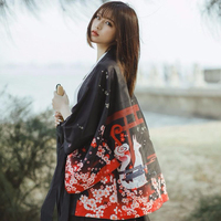 Japanese Anime Printing Traditional New Feeling Clothing Kimomo Japanese Cardigan Kimonos Women Plus Size Causl Coat Top