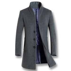 Image 5 - ISurvivor 2020 גברים עסקים מקרית צמר מעילי מעילי Hombre זכר האופנה Slim Fit גודל גדול חורף סתיו מעילי מעיילים