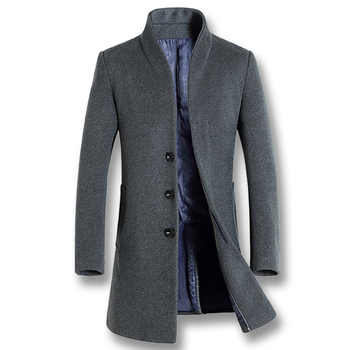 iSurvivor 2020 Men Business Casual Woolen Jackets Coats Hombre Male Fashion Slim Fit Large Size Winter Autumn Jackets Parkas