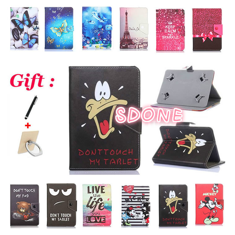 Gentle Universal Cartoon Case For Digma Plane 7.12/7.5/7.6/7.7/7.71/7.8/7.9/7.0 3g 7 Inch Tablet Stand Protective Case Cover Tablet Accessories 2 Gifts Cheap Sales Tablets & E-books Case