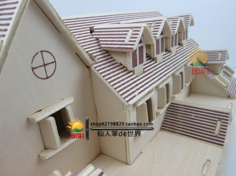 Handgemaakte kleine bouw speelgoed huis diy kleine kamer volwassen