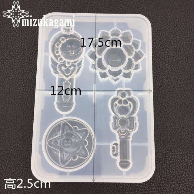 1 pièces UV résine bricolage cristal époxy miroir visage transformer baguette magique glace moule manuel plâtre arôme moule