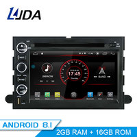 LJDA 2 Din Android 8.1 Car Radio For Ford F150 Fusion Escape Edge Multimedia Player Stereo Auto Audio GPS DVD Video IPS Screen