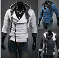 Han edition cultivate one's morality spell color flannelette fleece jacket man inclined placket fleece plus-size coat