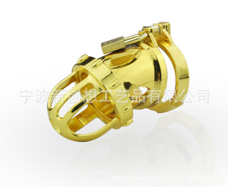 Sex tools for sale high-end luxury golden design male chastity belt device sex toys bdsm bondage cock cage and ring of cb6000s.