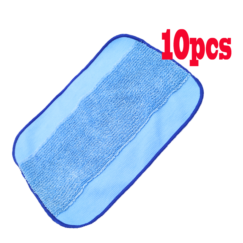 High Quality Microfiber 10-Pack Pro-Clean Mopping Cloths for Braava Floor Mopping Robot irobot Braava Minit 4200 5200 380 380t microfiber 8pcs wet and 2pcs dry dweeping pro clean mopping cloths for robot irobot braava minit 4200 5200 5200c 380 380t