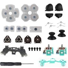 Kit de reparación del controlador PS4 R1L1R2L2 botones de disparo mandos de juego analógicos 3D Thumb Sticks Cap película de goma conductora para Playstation 4