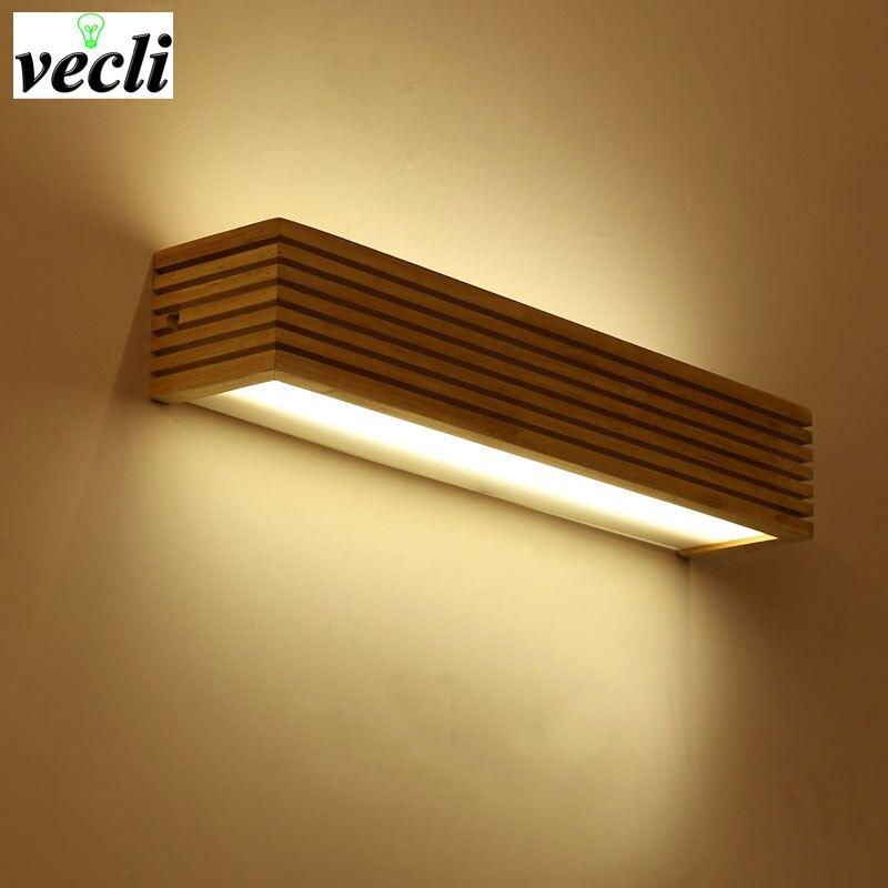 Criativo nordic quarto cabeceira luz de parede madeira 12 w foyer estudo fundo da lâmpada do banheiro espelho iluminação todos arandela sutiã