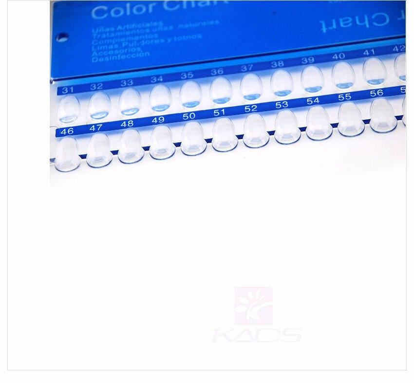 KADS Ногтей Диаграмма Цвета 60 Советов Ногтей Картографическая Ногтей Дисплей для ногтей инструмент