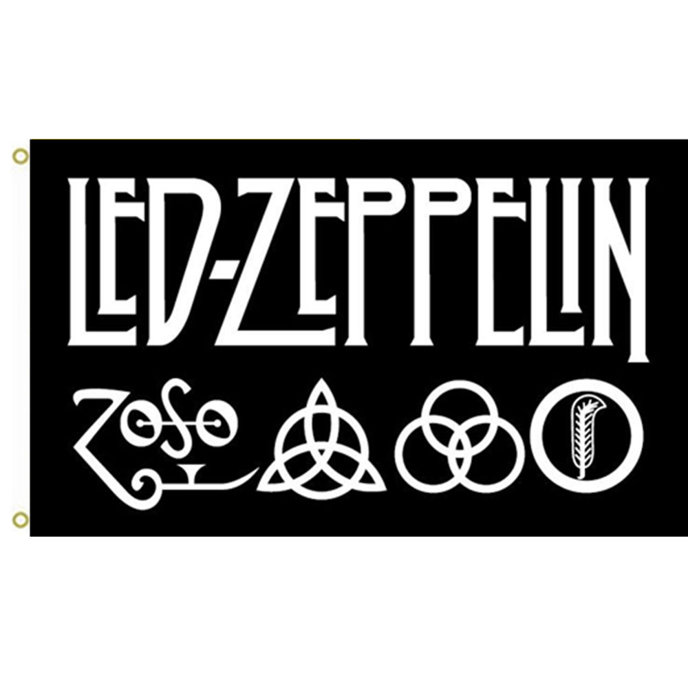 led zeppelin rock cool music band flag banner team logo wall indoor