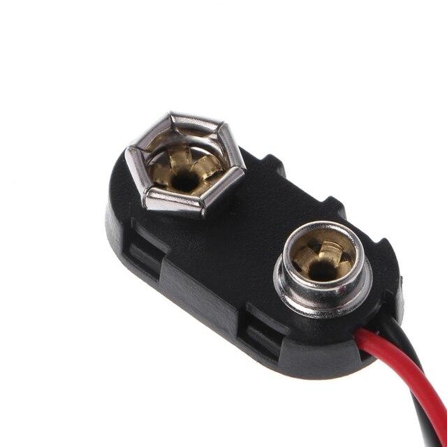 50 X PP3 9V Batterie Clip Anschluss 50mm