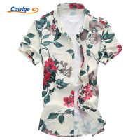 Men Shirt Summer 2017 New Shirts For Men Flowers Printed Short Sleeved Shirts Mens Hawaiian Shirt