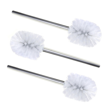 3pcs Stainless Steel WC Bathroom Cleaning Head Holder Toilet Brush