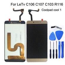 5.5 inç LCD ekran için Cool1 çift C106 R116 C103 C107 sayısallaştırıcı Letv Le leeco Coolpad serin 1 ekran lcd ekran tamir kiti