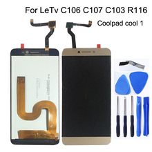 Display LCD da 5.5 pollici Per Cool1 Dual C106 R116 C103 C107 digitizer Per Letv Le Leco Coolpad Fresco 1 schermo display lcd kit di Riparazione