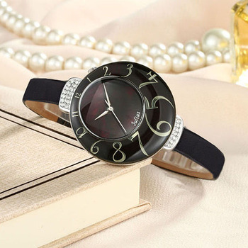 Julius Lady Women's Watch MIYOTA Quartz Mother-of-pearl Big Number Hours Fashion Clock Leather Girl's Birthday Gift No Box mother of pearl four leaf clover julius lady women s watch japan quartz fine fashion hours real leather girl s gift no box