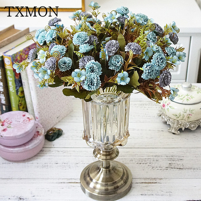 Simulation Artificial Carnation Lilac Silk Flower For Family Living