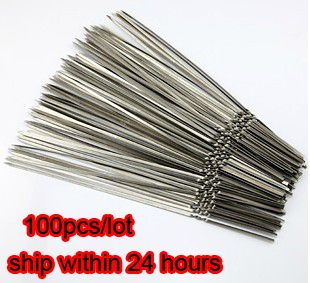 Stainless steel flat barbeque stick bbq skewers kebab 100pcs/lot SK11154172