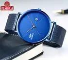 Top Brand OLMECA Quartz Watch Relogio Masculino Fashion Complete Calendar Wrist Watch 3ATM Waterproof Military Watches for Men