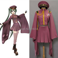 Vocaloid Hatsune Miku Senbonzakura Kimono Uniform Dress Cosplay Costumes Whole Set