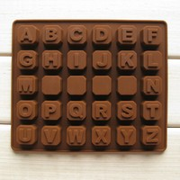 Diy Handmade Chocolate Mould 26 Letter 4 Whiteboard Silica Gel Handmade Soap Free Shipping