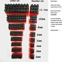 Набор штампов для букв и цифр из закаленной стали, металла, дерева, кожи, стальных штампов, букв, букв, цифр, инструмент, кожаный Штамп для рукоделия