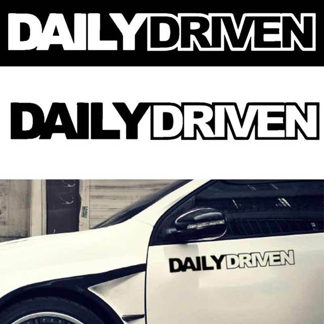 Jdm car sticker daily driven mugen euro spoon stance illest drift vinyl decals truck auto window