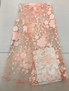 9 Color African Lace Fabric 2018 High Quality Lace Embroidery Guipure French Lace Fabric With Laser Cutting For Wedding Dress