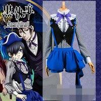 New Clothing Hot Anime Black Butler Book of Circus Ciel Phantomhive Custom Made Cosply Costume O
