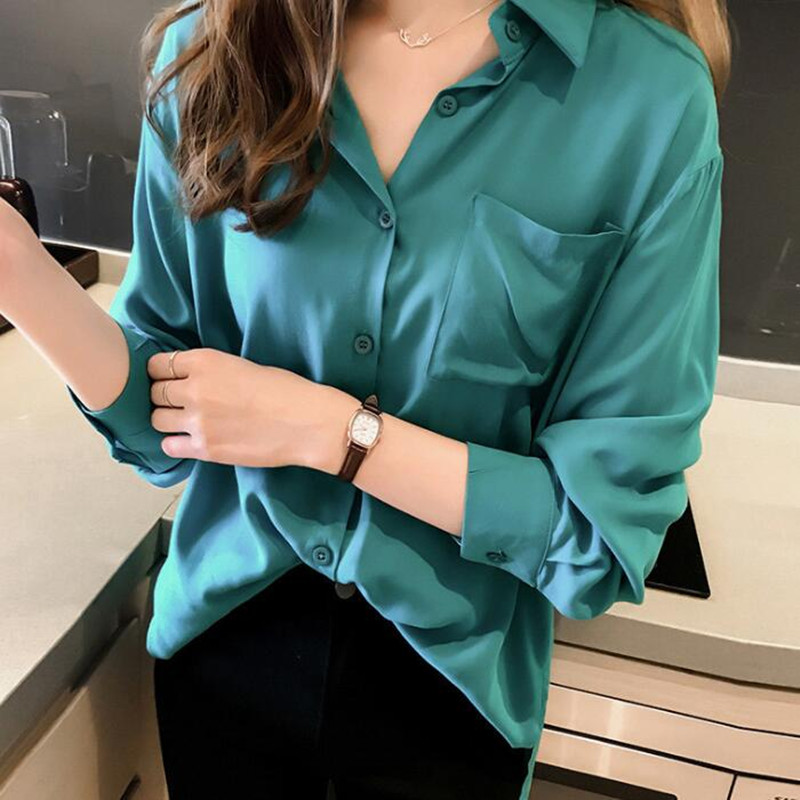 Natural 100% Silk Blouses Women High Quality Office Lady OL Work Business Spring Summer Fashion Elegant Shirts Tops Plus Size