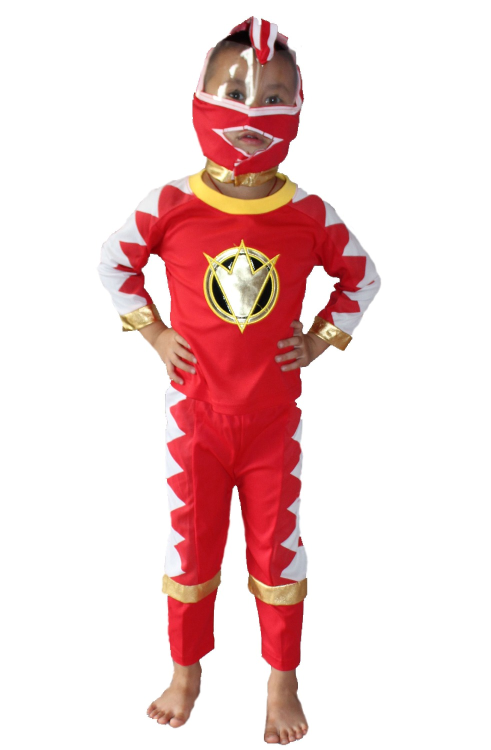 Halloween 3 - 7 years Three piece suit Children 2 color kid Bakuryu Sentai Abaranger,Boy Cosplay Play clothes