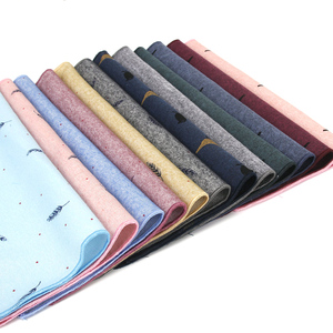 Casual Animals Pattern Pocket Square Leaf Print Handkerchief for Mens Suits Cotton 25*25cm Birds Handkerchief Chest Towel Hanky