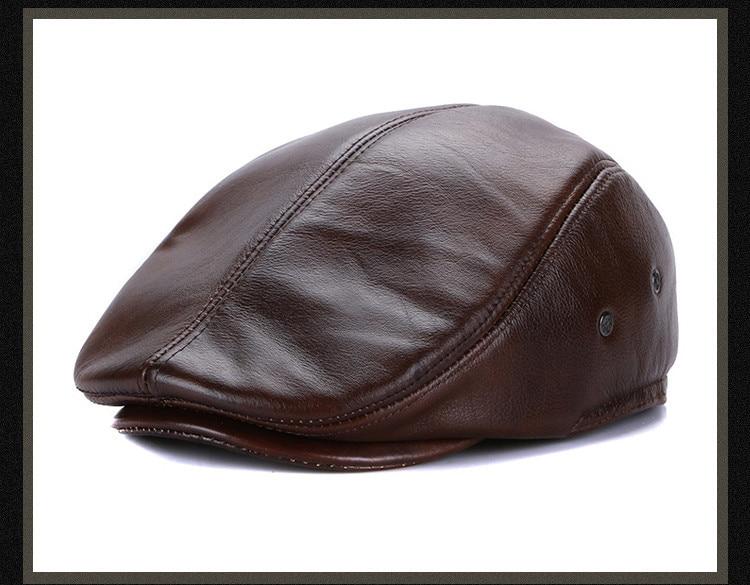 men leather captain hat natural cow (20)