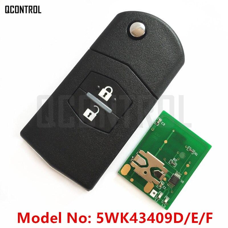 QCONTROL Car Remote Auto Key New for MAZDA 5WK43409D 5WK43409E 5WK43409F for M2 Demio M3 Axela M5 Premacy M6 Atenza M8 MPV for mazda m3 box