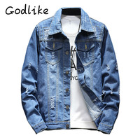 GODLIKE Men S Fashion Casual Jacket Teenage Denim Jacket Spring And Autumn Denim Jacket A Korean